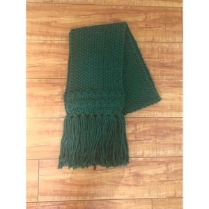 Banana Republic Green Quilted Wool Scarf